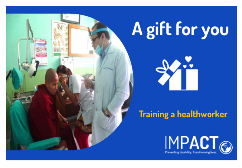 Health worker being trained by IMPACT medical staff
