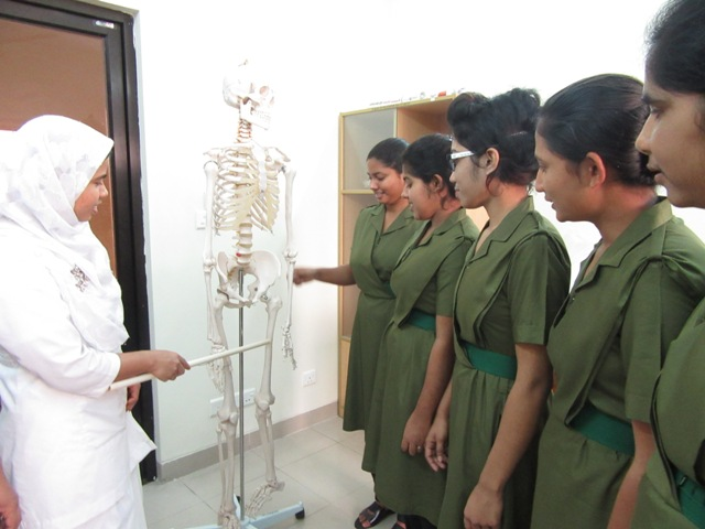 Nurses studying at the Nursing Institute