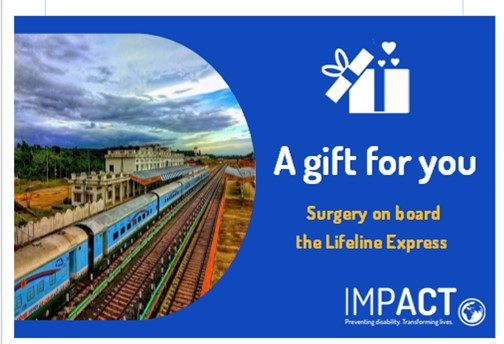IMPACT Gift Token - surgery on board the Lifeline Express