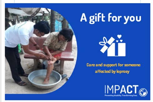 The gift of care and support for someone affected by leprosy